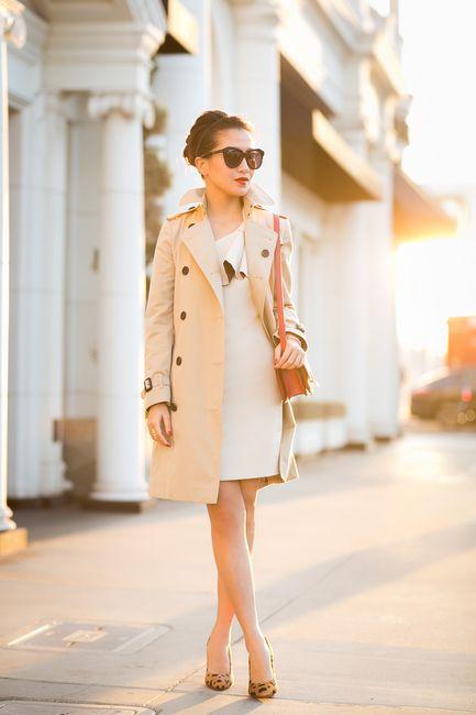 Trench coat com scarpin nude