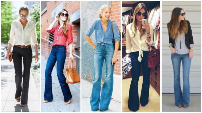 calça flare jeans para baixinhas