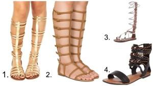 gladiadoras flat marcas