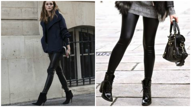 legging com ankle boots