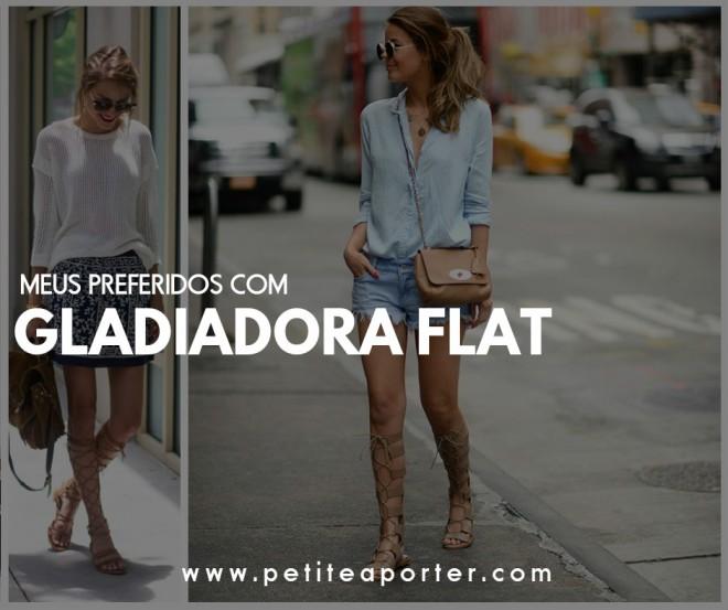 preferidos com gladiadora flat