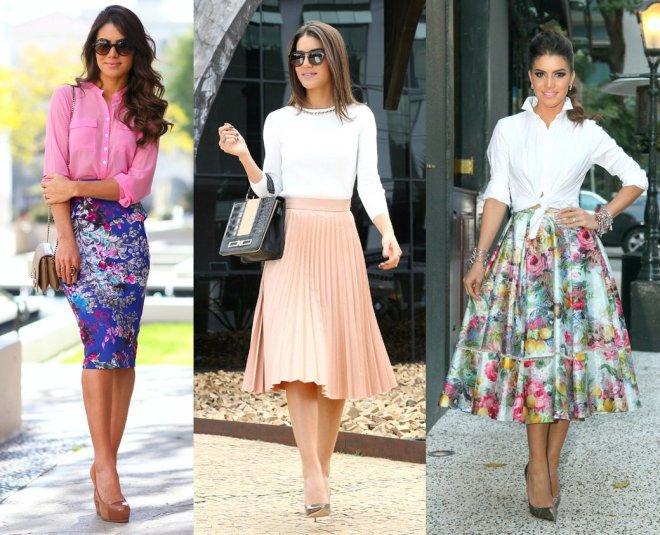 Qual o segredo de usar saia midi sem parecer menor ainda, Camila?