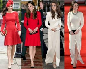 Roupas repetidas Kate Middleton
