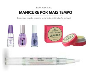 para manter a manicure