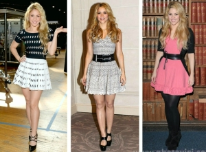 Shakira vestidos romanticos