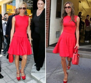 Victoria Beckham vermelho