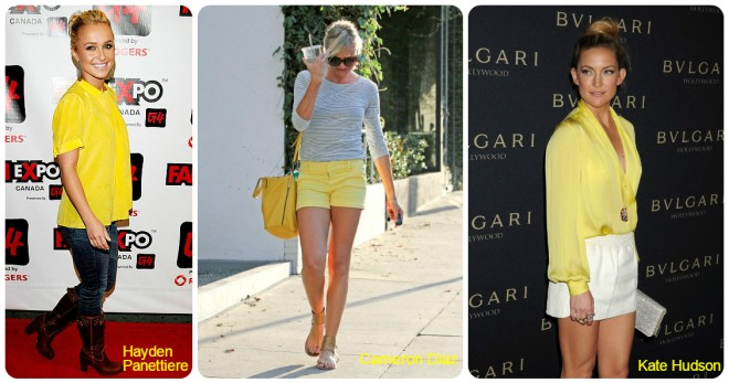 Yellow short e blusa