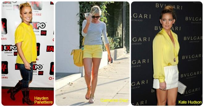 Yellow short e blusa