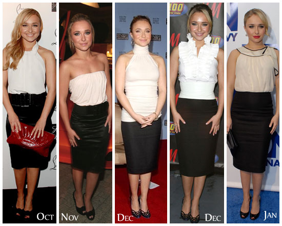 hayden-panettiere-white-top-black-pencil-skirt-look