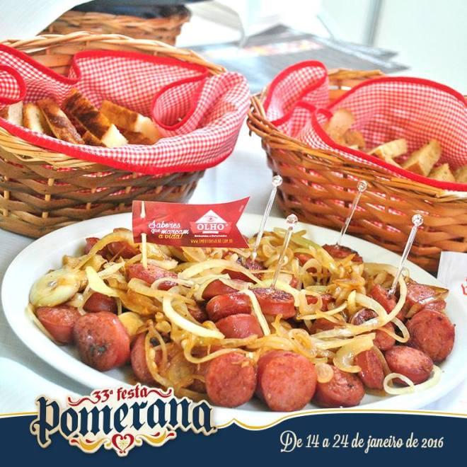 comida típica festa pomerana