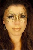 make dourada de fada de carnaval