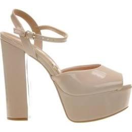 sandalia de tira meia pata nude vizzano