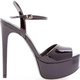 sandalia de tiras plataforma schutz preta