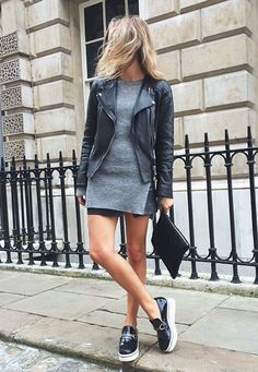 jaqueta de couro com mini vestido para baixinhas