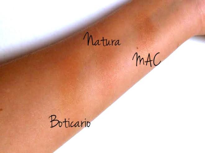 perolas efeito bronzeado natura una sol radiance comparacao com  boticario mac cor e efeito