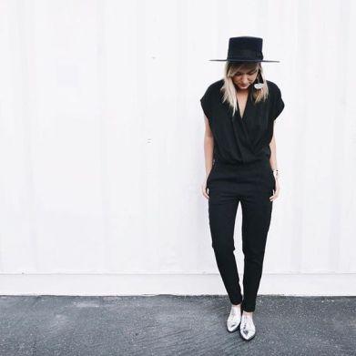 look all black com oxford prata