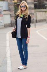 oxford prata jeans skinny e blazer