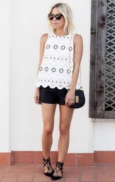 sapatilha lace up com shorts de alfaiataria