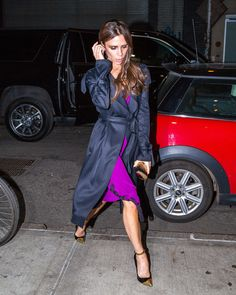 victoria beckham slip dress roxo