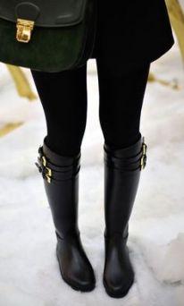 bota montaria preta com meia calça