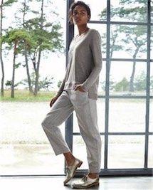calça alfaiataria com oxford prata