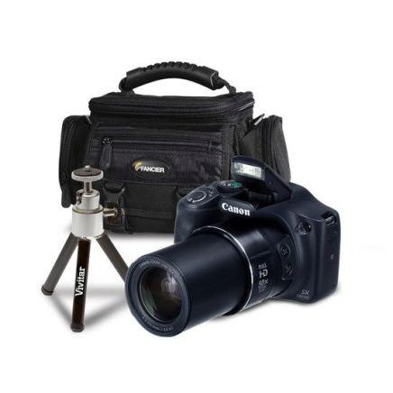 Câmera Powershot SX 530 Canon, com mini tripé e Bolsa