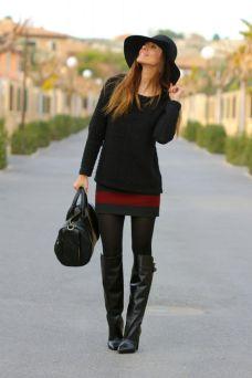como usar bota montaria com saia