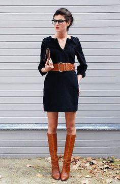 como usar bota montaria marrom com saia