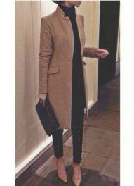 lokk all black com casaco caramelo