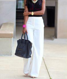 pantalona alfaiataria branca