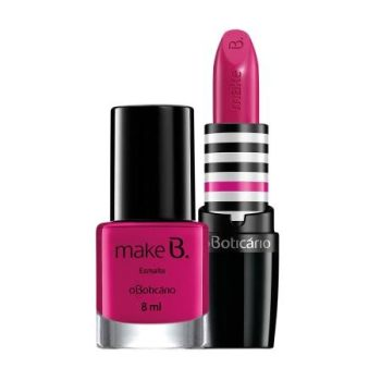 batom e esmalte power pink make b barbie edition o boticario