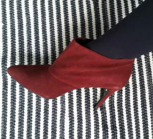 botinha vermelha ankle boot zara