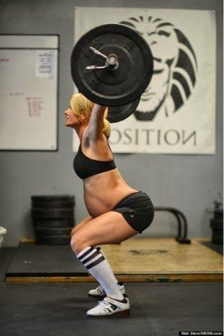 gravida musculação