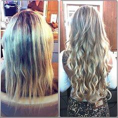 mega hair antes e depois