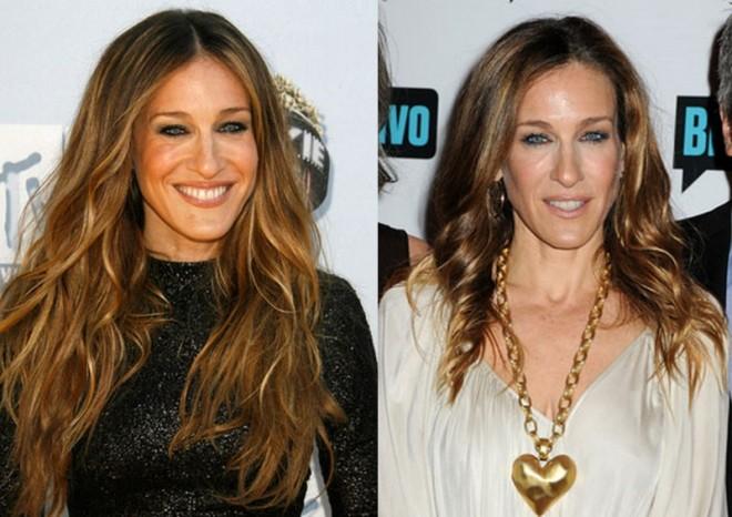 sarah jessica parker mega hair antes e depois