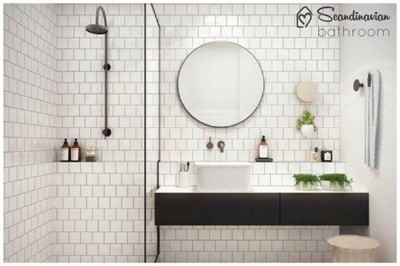 banheiro estilo escandinavo