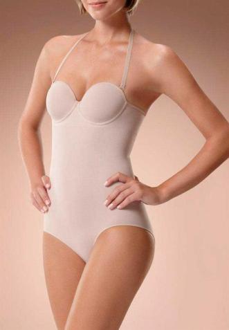 Body Modelador com bojo Nude