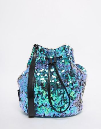 bolsa saco de paetês