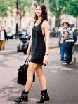 coturno com vestidinho preto