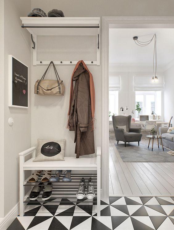 hall de entrada estilo escandinavo