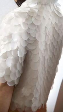 jaqueta de paete fosco branco