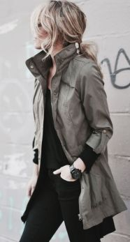 parka com look all black