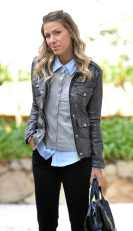 Cardigan feminino com camisa