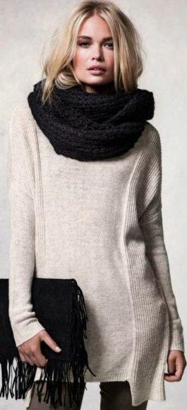 Gola fake trico com vestido
