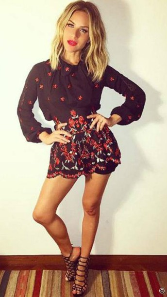 Look para baixinha - Shorts Mini Estampado