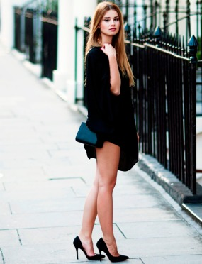 Scarpin preto + black dress