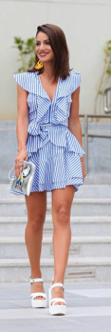 vestido com babado tendência verão 2017