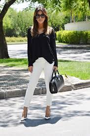 Bolsa Preta + Calça Branca