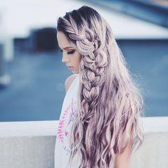 cabelo-mermaid-lilas-com-tranca