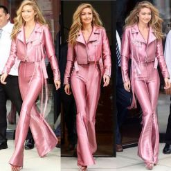 gigi hadid look all pink